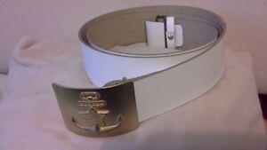c50888d4150 similicuir ceinture couleur Weis avec boucle MARINE URSS СССР RUSSIE ...