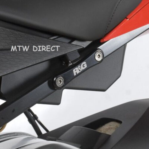 2015-2016 R/&G RACING PAIR BLACK REAR FOOT REST PLATES for BMW S1000RR
