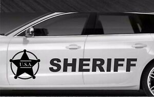 Police-sheriff-911-Bandes-Stickers-adhesifs-decoration-couleur-au-choix