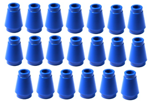 Lego Blue Nose Cone Small 1x1 20 pieces NEW!!!