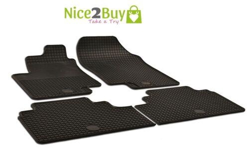 Gummimatten Premium schwarz Gummi-Fußmatten für Seat ALHAMBRA ab 2010