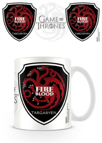 Official Game Of Thrones Targaryen House Sigil Mug GOT Boxed Ceramic Cup Gift