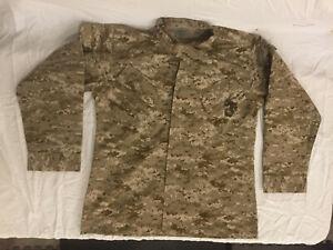 NWOT-039-s-Military-Style-Digital-Dessert-Camo-Marine-Jacket-Stitched-Medium-Regular