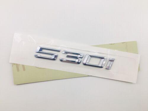 Chrome Letters Trunk Lid Rear Emblem Badge for BMW 5 series 530i