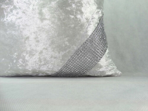 """Grand Crush velours strass Croix dentelle Coussins Couvre 17X17/""""or21/""""X21/"""" 7 Couleurs"""