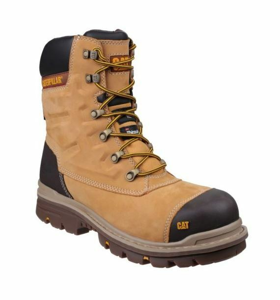 CAT Caterpillar Premier Safety S3 Work Water Resistant Mens Honey Boots