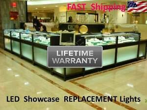 Details About Lifetime Warranty Jewelry Showcase Display Case Lighting Kit Led Lights