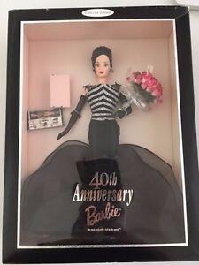 Brunette 40ème Anniversaire Barbie Nrfb 1999 Ref.24842 Vhtf