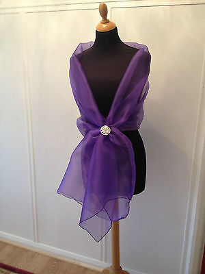 CADBURY PURPLE CHIFFON WRAP SHAWL EVENING WEDDING CRUISE BNIP **free samples**