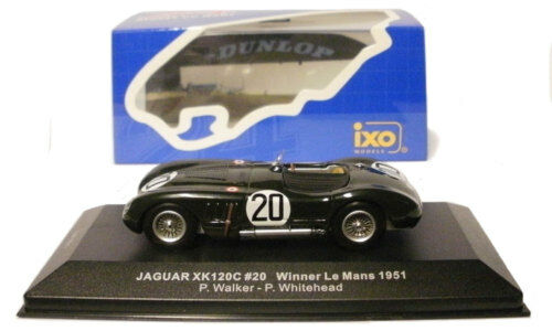 Ixo Lm1951 JAGUAR Xk120C   20 Le Mans winner 1951-Walker / biancahead scala 1/43