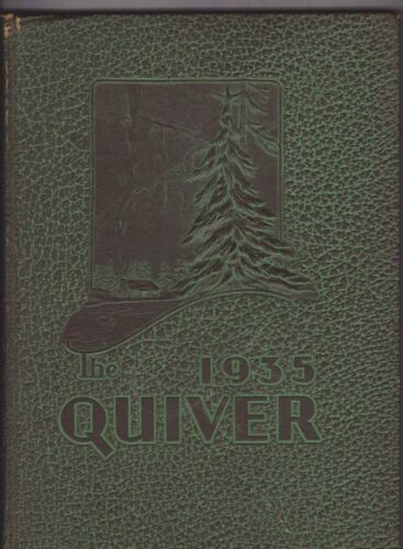 1935 STATE CHERS COLLEGE annual yearbook QUIVER OSHKOSH WISCONSIN