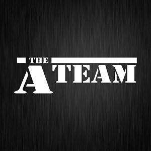 The-A-Team-A-Team-ATeam-Van-Fahrzeug-PKW-Weiss-Auto-Vinyl-Decal-Sticker-Aufkleber
