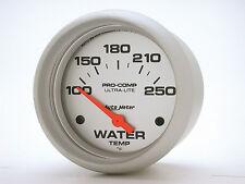Auto Meter Ultra-Lite Electric 100 - 250 Deg F Water Temperature Gauge 2 5/8 in.