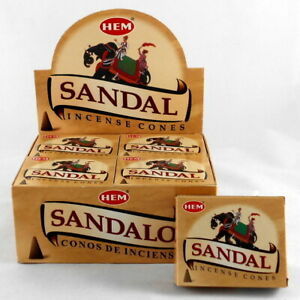 Genuine-Hem-Sandal-Incense-Cones-Bulk-Lot-12-Pack-of-10-Cone-120-Total