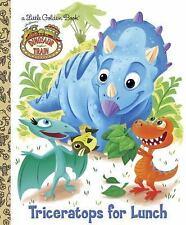 Dinosaur Train: Triceratops for Lunch (Little Golden Book) Golden Books Hardcov