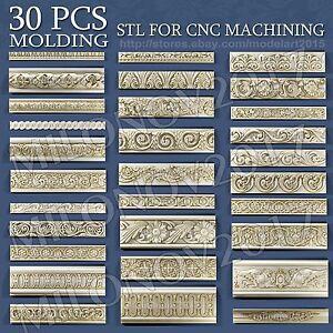 30 pcs set 3d STL models Molding for CNC Router Aspire Artcam