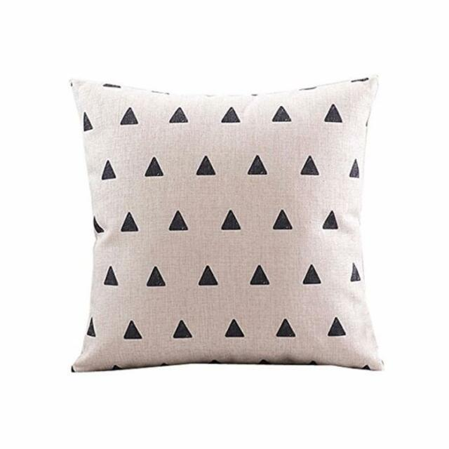 Home Decor Vintage Pattern Square Linen Throw Pillow Case Linen Cushion Cover