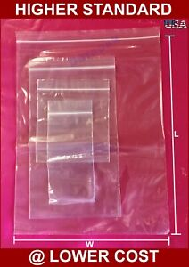 "1000-3/"" x 10/""  3x10 Zip Lock Ziplock Plastic Bags 2 MIL"