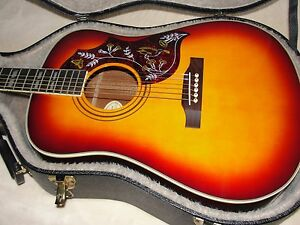 Image is loading Epiphone-Hummingbird-AV-Acoustic-Guitar-RARE-VINTAGE-1994-