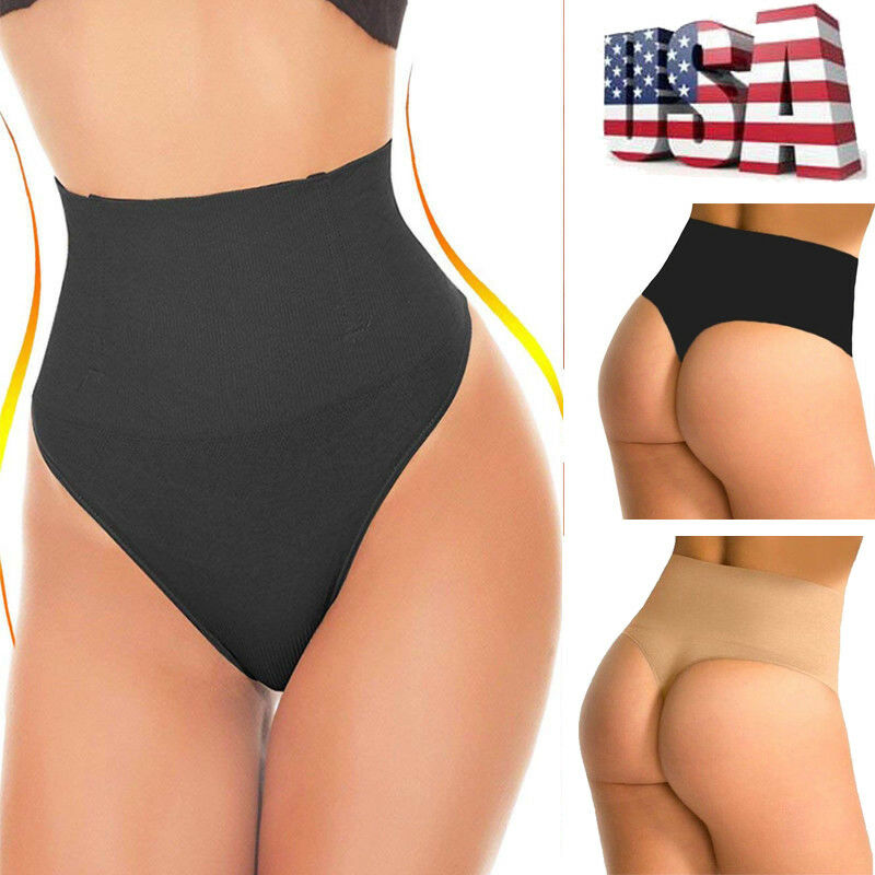 973e2f7514a US Invisible Body Shaper Sexy Thong G String Women Tummy Control Panty  Shapewear