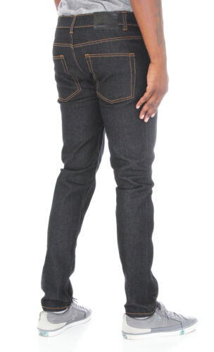 Kayden K Men/'s Skinny Stretch Raw Denim Jean