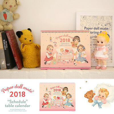 Afrocat Paper Doll Mate Schedule Calendar 2018 Table Decoration Memo New Year