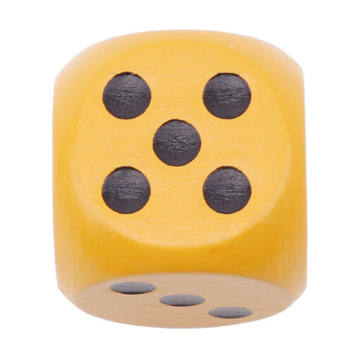 Giant Wood Dice Set Wooden Yard Outdoor Lawn Game Family Kids Children Play LJ