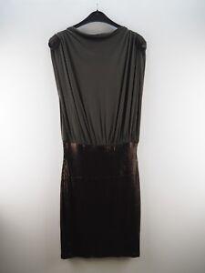 Damen-Damenkleid-Kleid-Partykleid-mit-Pailetten-NEU-Dunkles-Grau-Groesse-40-L