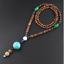 Handmade-Nepal-Buddhist-Mala-Bead-Pendant-Necklace-Ethnic-Horn-Fish-Long-Jewelry thumbnail 29