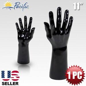 Male Men Mannequin Hand Display Jewelry Bracelet ring glove Stand holder black