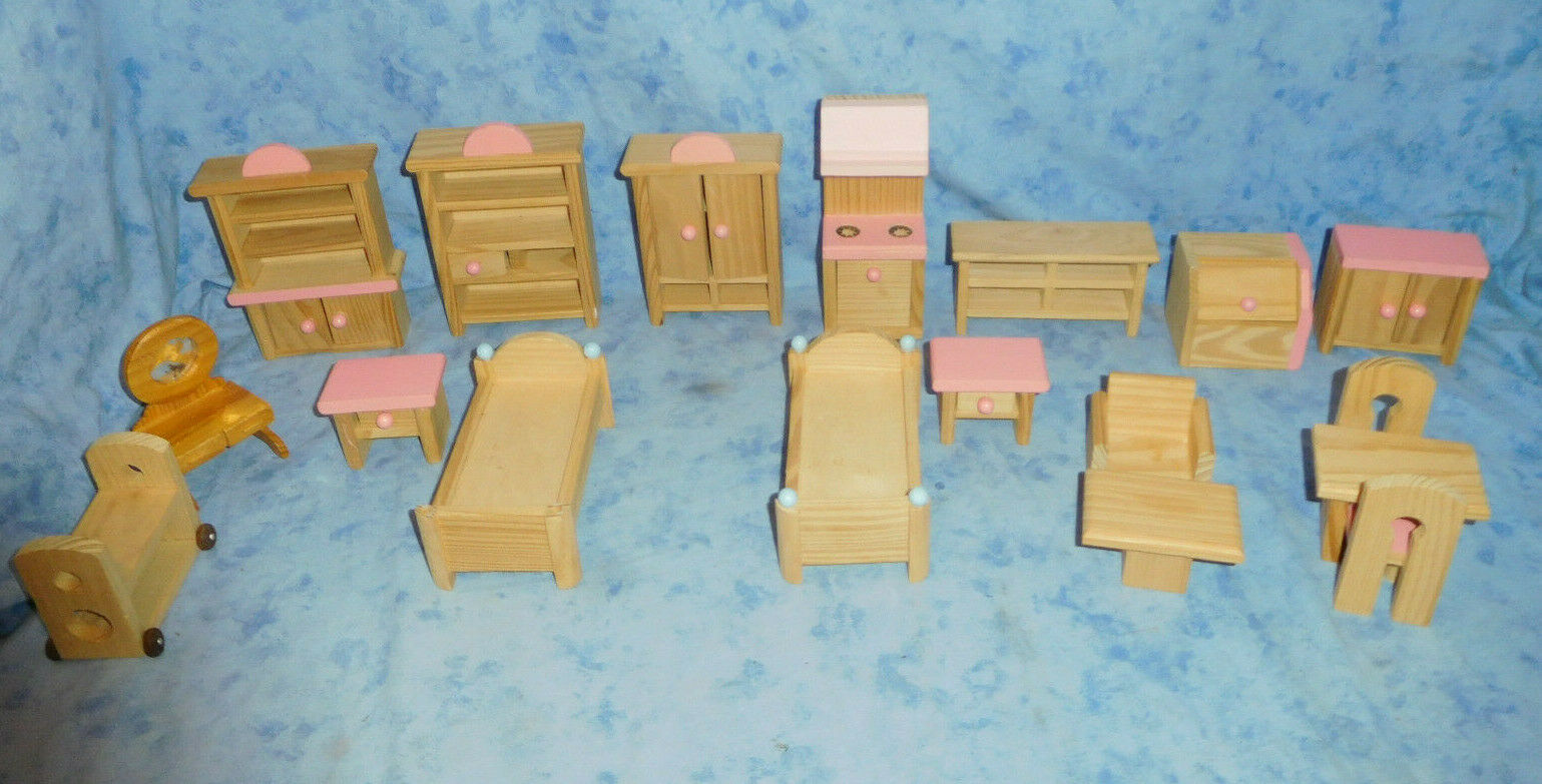 Mixed Lot Dolls House Furniture Doll House Doll Furniture Dolls Furniture Country Style
