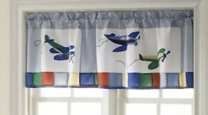 My World Airplane Valance Curtain For Kids Room Planes 70 X 18 Boys Bedroom New 783048057075 Ebay