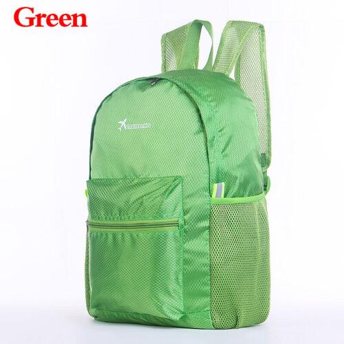 Fold Up Camping Backpack Folding Travel Hiking Climbing Rucksack Daypack Bag