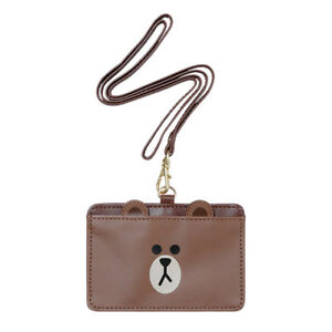 Japan-LINE-Friends-Brown-Cony-Sally-ID-Card-Holder-Mascot-Gift