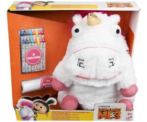 Minion Fluffy Einhorn Unicorn Plüsch Rucksack Stifte Set