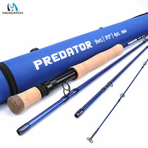Maxcatch-Saltwater-Fly-Fishing-Rod-8-9-10-11-12wt-9ft-Graphite-IM10-Fast-Action