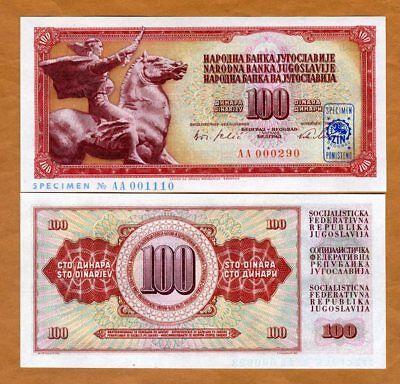P-80s UNC 1965 Specimen Yugoslavia 100 dinara