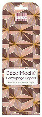 Deco Mache x 3 Paper Sheets Tissue Patch Craft First Edition Red Eggs Easter