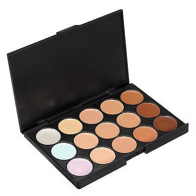 Pro Beauty 15 Colors Neutral Contour Face Cream Makeup Concealer Palette Kit