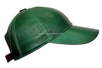 BASEBALL Silky Brown Men Ladies Real Soft Nappa Leather Hip-Hop Cap Hat