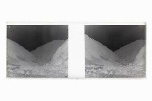 Francia Paesaggio Foto Amateur Stereo L14n12 Placca Da Lente Vintage Negativo