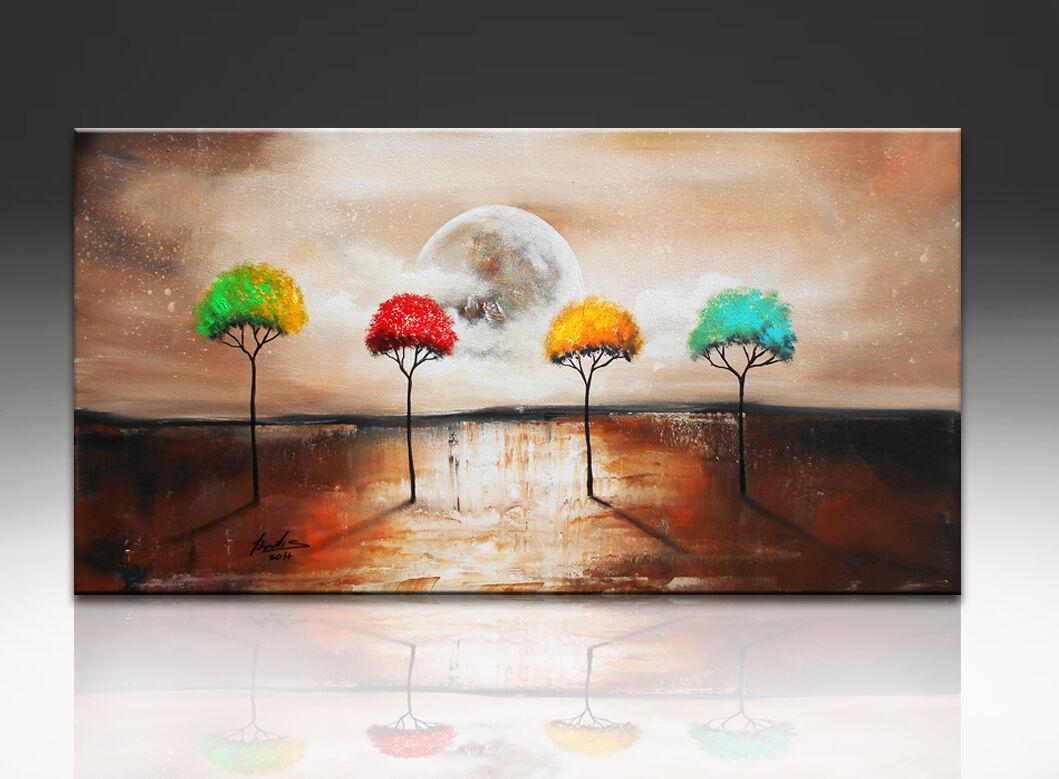 Paesaggio Paesaggio Paesaggio ALBERI Modern Immagine Su Tela Astratto arte immagine parete XXL 262a be5fd5