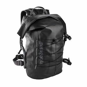Patagonia-STORMFRONT-Roll-Top-Pack-45L-Black-WATERPROOF