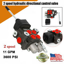 Hydraulic Directional Control Valve Tractor Loader With Joystick 2spool 12 Bspp