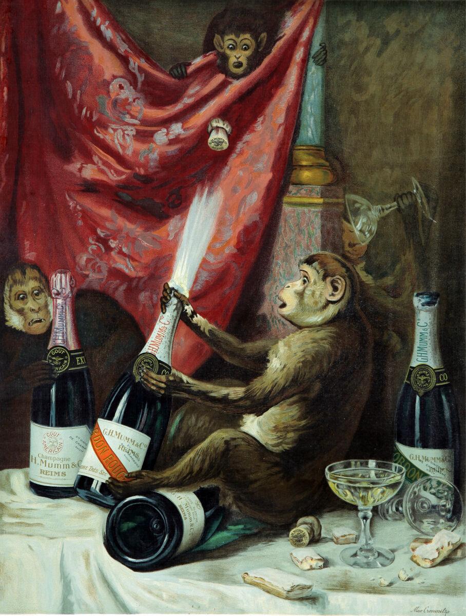 16x20  CANVAS Decor.Room art print.Travel shop.Monkey drinking.Painting.6054