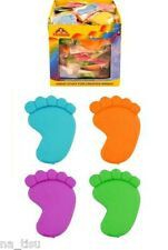 12 ERASERs RUBBERs FOOT Novelty boys girls party bag filler toy birthday kids