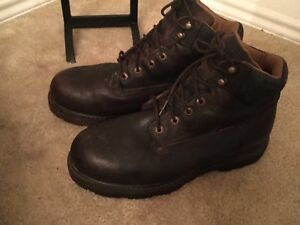 4a6371fcdcb Details about C.E. Schmidt Men's 8 M Steel Toe Brown Leather Waterproof  High Top Boots Work