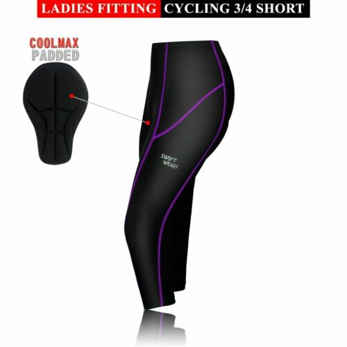 Ladies Cycling Padded Shorts Women Tights CoolMax Anti Bac Pad Short Black//Pink