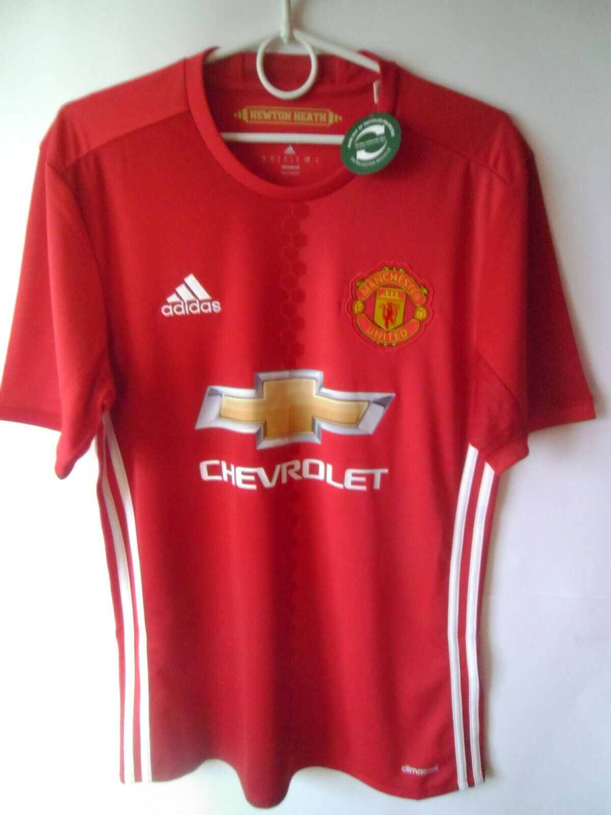 EXCELLENT    BNWT     2016-17 Manchester United Home Shirt Jersey Trikot S