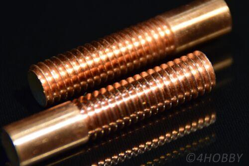 2x Kupfer-Gewindestab M10 x1,75 Kupferstab Elektrode Gewindestange Anschluss
